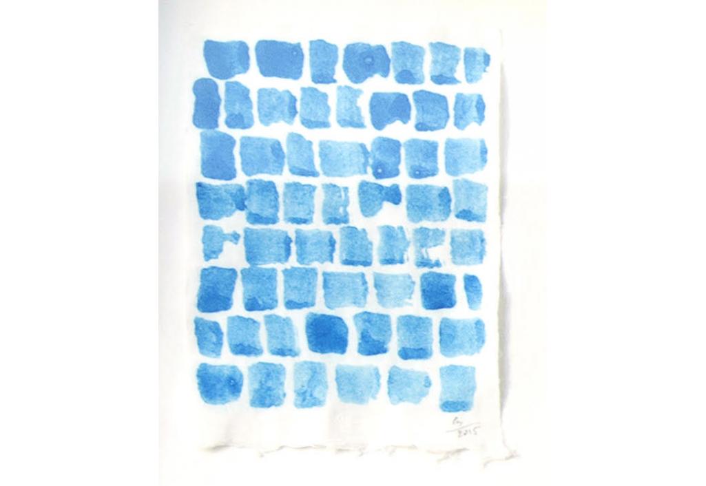 clairedechavagnacbrugnon,bleuciel,oeuvresurpapier