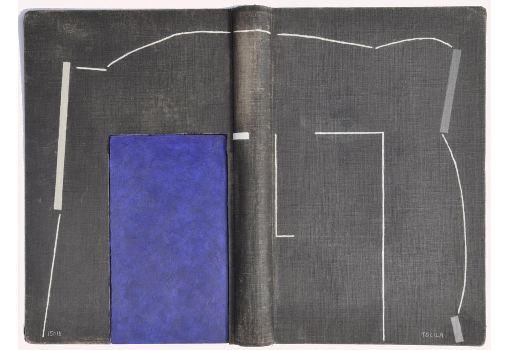 Livre ouvert - Noir et bleu nuit
