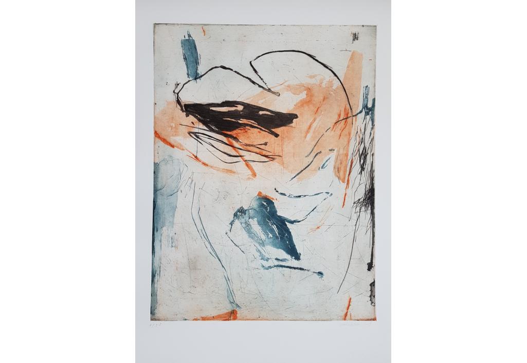 Laurence Garnesson - art abstrait - estampe - grave