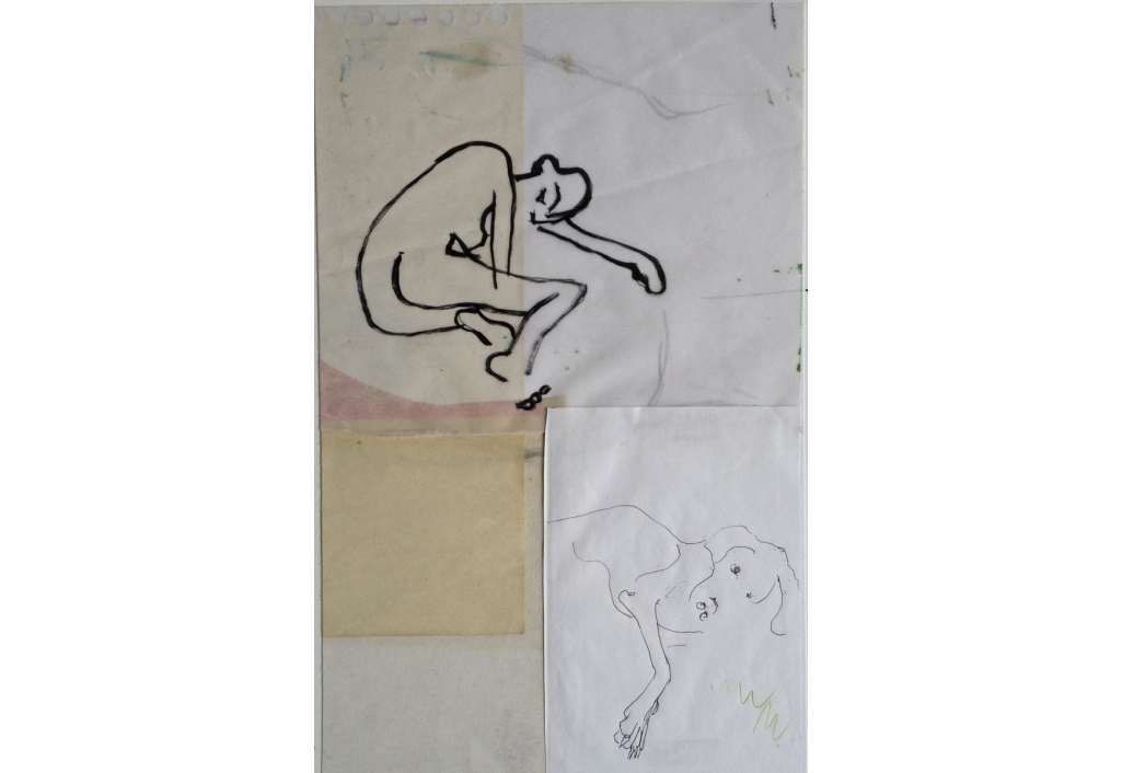 lying on tracing paper