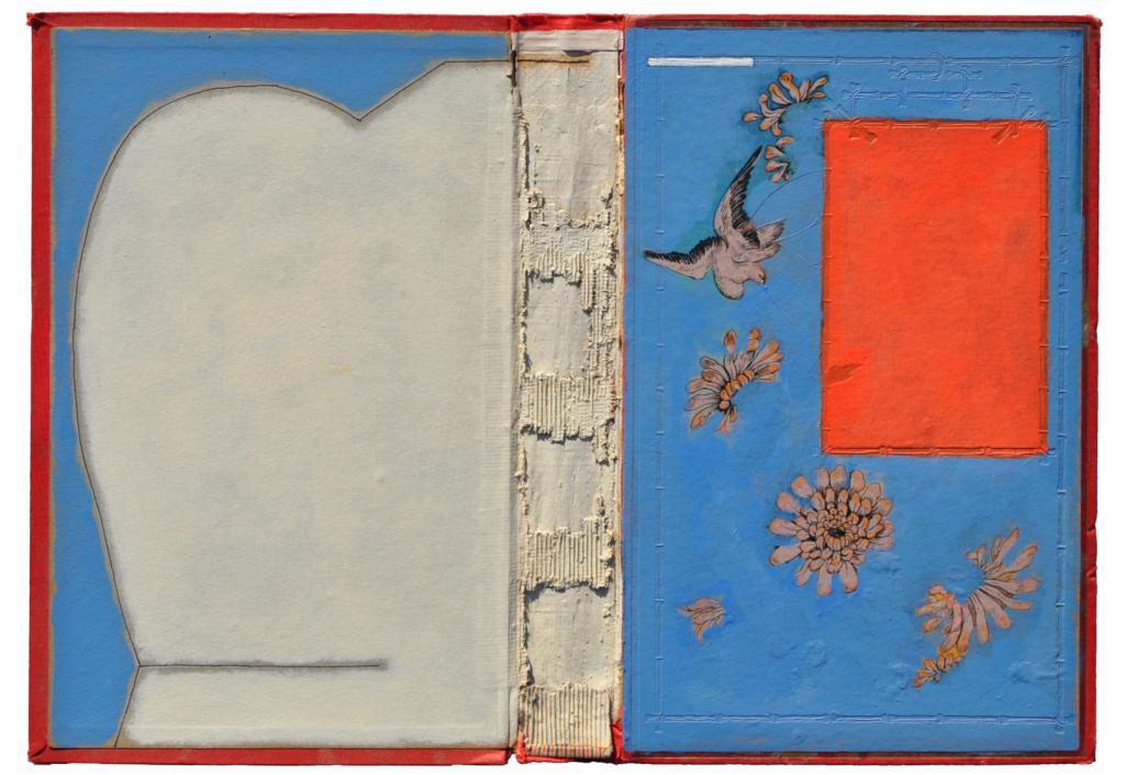 Livre Ouvert Bleu Clair Et Rouge La Colombe