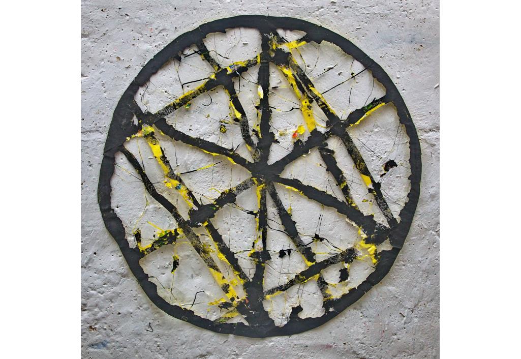 Cercle - Jaune noir Edward Baran Oeuvre sur papier Zeuxis